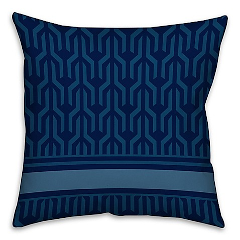 Square Throw Pillow Pattern : Abstract Pattern Square Throw Pillow in Blue/White - Bed Bath & Beyond