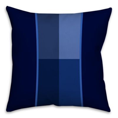 Geometric Shades Square Throw Pillow in Blue