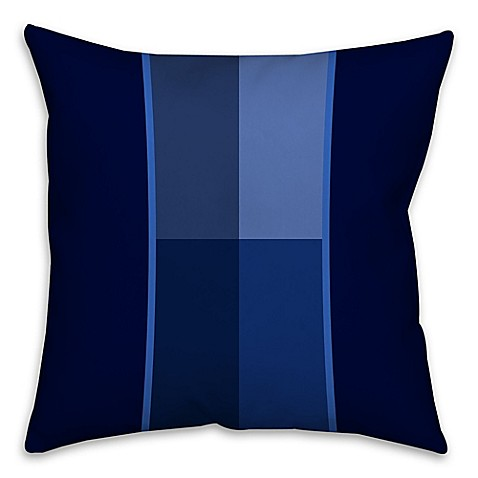 Blue Geometric Throw Pillows : Geometric Shades Square Throw Pillow in Blue - www.BedBathandBeyond.com