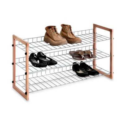 Metallic Shoe Storage Shelf