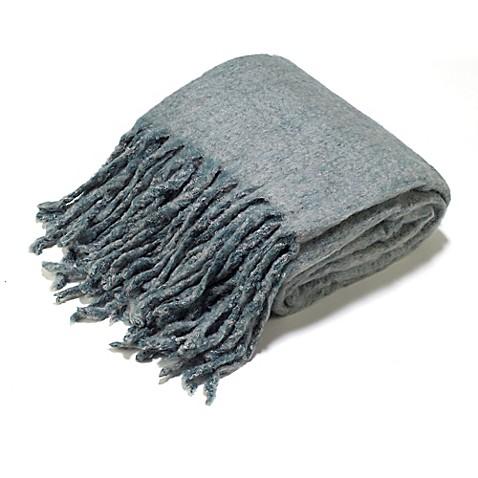 Aura Reversible Wool Blend Throw Blanket Www