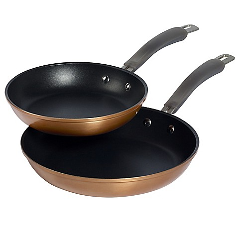 epicurious aluminum nonstick 2 piece fry pan set in copper bed bath beyond. Black Bedroom Furniture Sets. Home Design Ideas