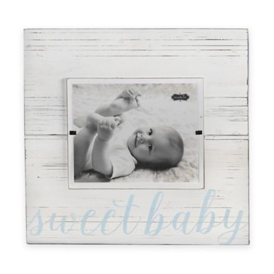 Mud Pie Sweet Baby 8-Inch x 10-Inch Wood Picture Frame in Blue