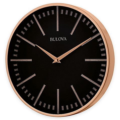 buy bulova classic wall clock in copper from bed bath beyond