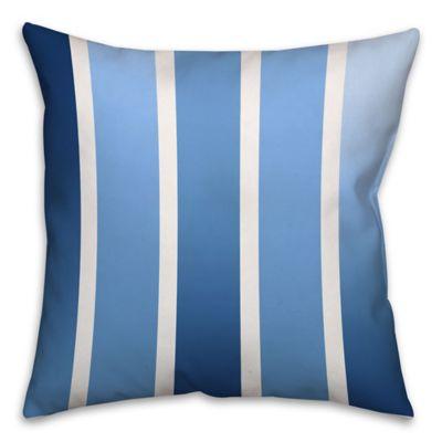 Spectrum Stripes Throw Pillow in Navy