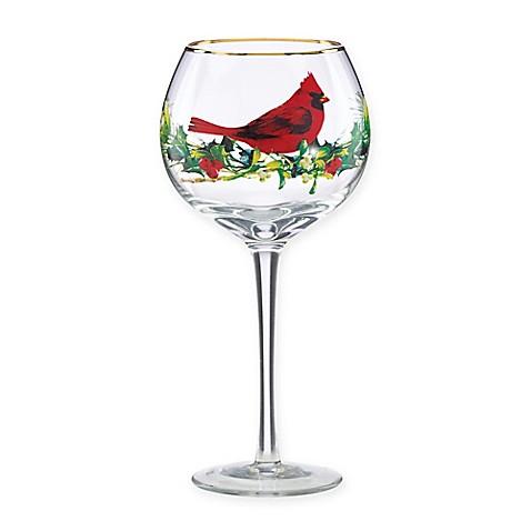 Buy Lenox Winter Greetings Cardinal Balloon Wine Glasses Set Of 4 From Bed Bath Beyond