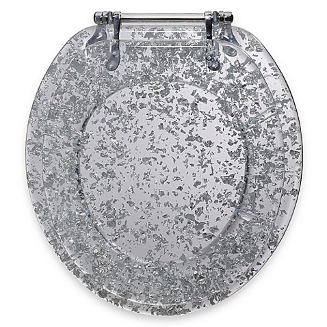 Ginsey Silver Foil Resin Toilet Seat