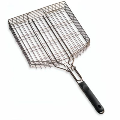 Oversized Deluxe Non-Stick Oil Rubbed Bronze Barbecue Grilling Basket