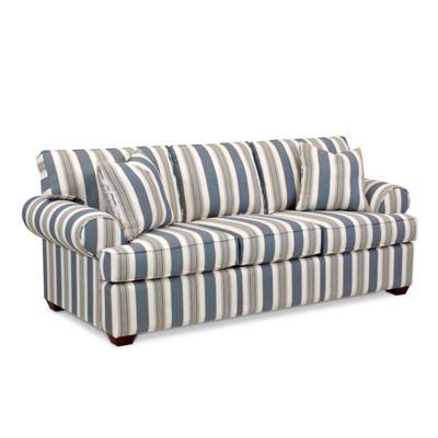Klaussner® Lady Sofa in Cayman Breeze Stripe