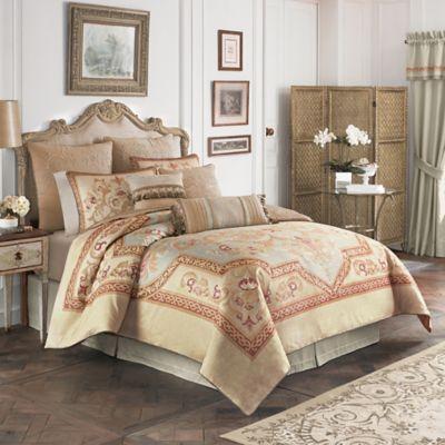 Croscill® Lorraine California King Comforter Set in Light Blue/Gold