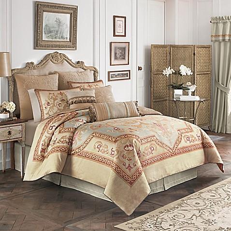 croscill lorraine comforter set in light blue gold bed bath beyond. Black Bedroom Furniture Sets. Home Design Ideas
