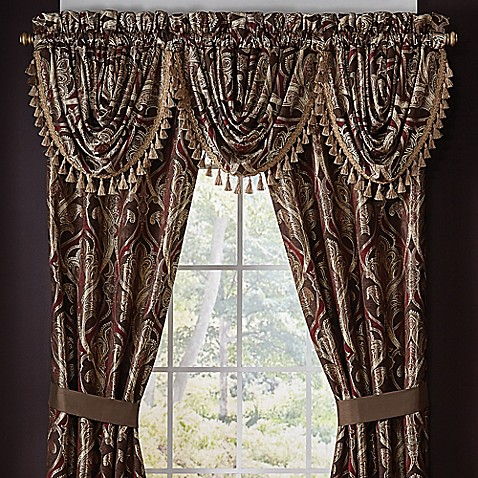 Croscill Bradney 84 Inch Rod Pocket Window Curtain Panel