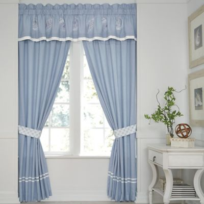Croscill® Cape May Pole Top 84-Inch Window Curtain Panel Pair in Blue