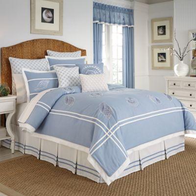 Croscill® Cape May Queen Comforter Set in Blue