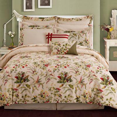 Tribeca Living Maui 12-Piece Reversible California King Comforter Set in Beige