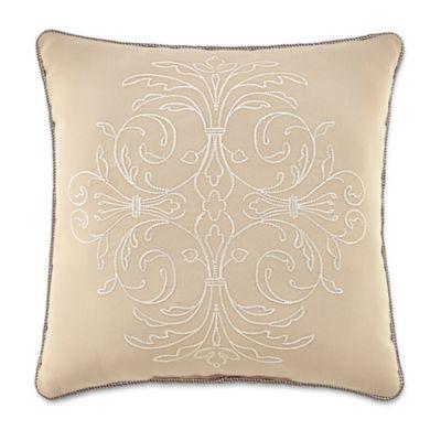 Croscill® Lorraine Square Throw Pillow in Gold