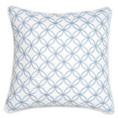 Croscill® Cape May Fashion Square Throw Pillow in White