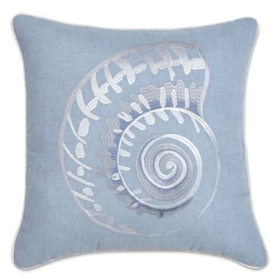 Croscill® Cape May Square Throw Pillow in Blue