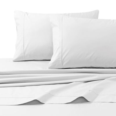 Tribeca Living 300-Thread-Count Egyptian Cotton Standard Pillowcases in White (Set of 2)