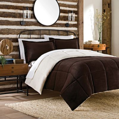 So Soft™ Plush 2-Piece Reversible Twin Comforter Set in Chocolate