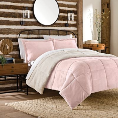So Soft™ Plush 3-Piece Reversible King Comforter Set in Pink