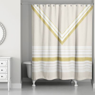 White Fabric Shower Curtains