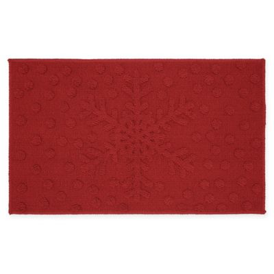Mohawk Snowflakes Dots Kitchen Rug