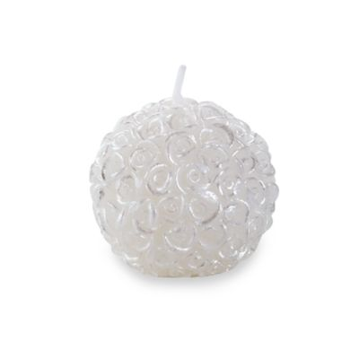 Kate Aspen® White Rose Ball Candle in Gift Box