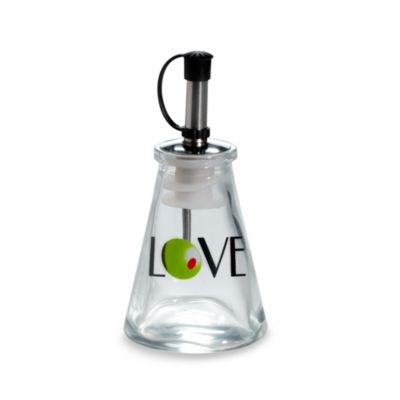 Kate Aspen® Olive You! Glass LOVE Oil Bottle in Signature Tuscan Box