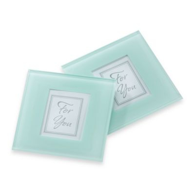 Kate Aspen® Forever Photo Frosted Glass Coaster (Set of 2)