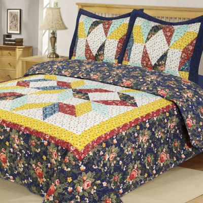 Country Star Reversible Twin Quilt Set