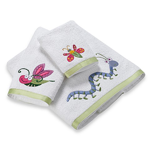 Bugs & Leaves Hand Towel