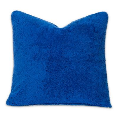 Crayola® Playful Plush 16-Inch Square Throw Pillow in Blue