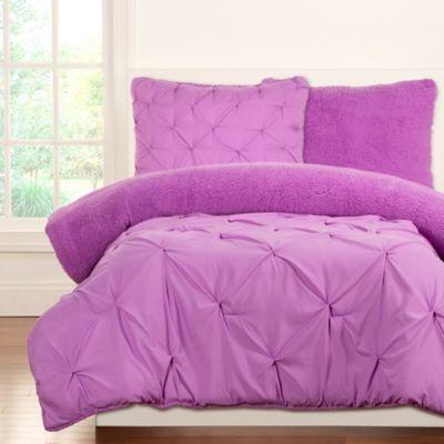 Crayola® Playful Plush 2-Piece Twin Comforter Set in Purple