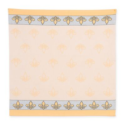 Mierco Collection Fleur de Lis Tea Towel in Yellow