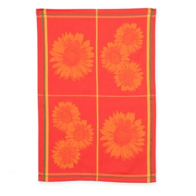 Mierco Collection Sunflower Tea Towel in Orange