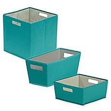 B In 174 Fabric Storage Bin In Teal Bed Bath Amp Beyond