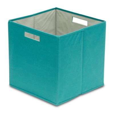 Buy storage bins fabric from bed bath beyond for Turquoise bathroom bin