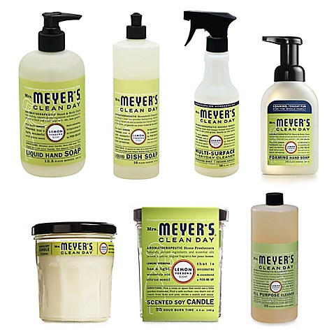 Mrs. Meyer's® Clean Day Therapeutic Lemon Verbena Cleaning Products - BedBathandBeyond.com