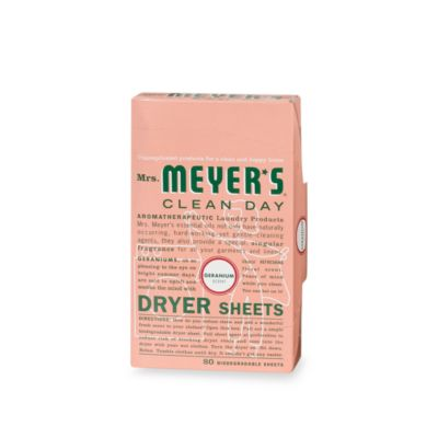 Mrs. Meyer's® Clean Day Aromatherapeutic Geranium 80-Pack Biodegradable Dryer Sheets