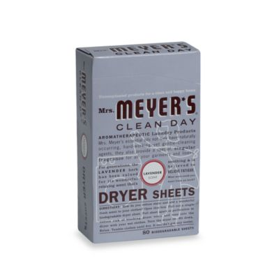 Mrs. Meyer's® Clean Day Aromatherapeutic Lavender 80-Pack Biodegradable Dryer Sheets