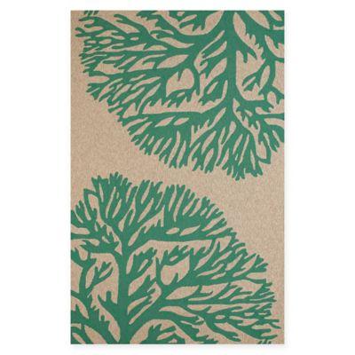 Panama Jack Coral Gables 5-Foot x 7-Foot 6-Inch Indoor/Outdoor Rug in Green