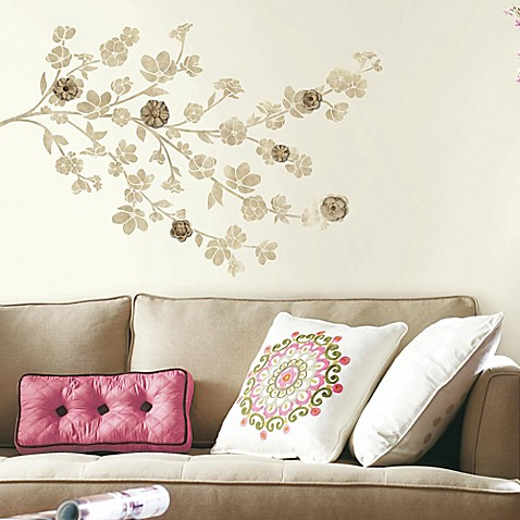 Floral Blossom Peel And Stick Wall Decals With 3d Flowers