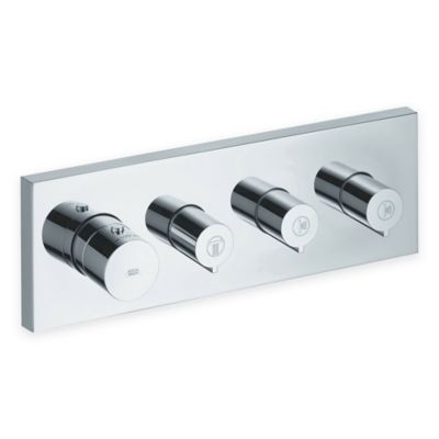 Axor Starck Thermostatic 3-Function Shower System Trim in Chrome