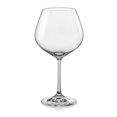 Red Vanilla Viola Burgundy Wine Glasses (Set of 4)