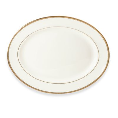 kate spade new york Sonora Knot 13-Inch Oval Platter