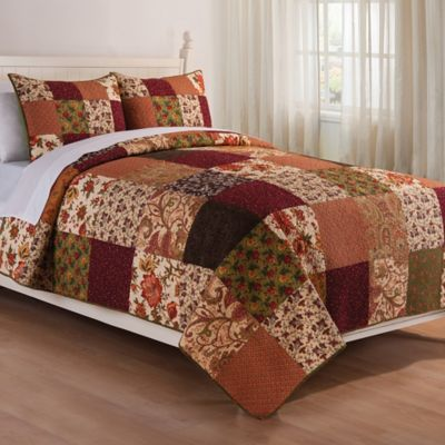 Rustic Lodge Reversible Twin Quilt Set