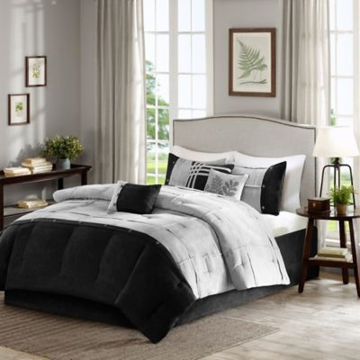 Madison Park Rockport 7-Piece Queen Comforter Set in Grey