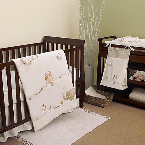 Nature S Purest Sleepy Safari 4 Piece Crib Bedding Set