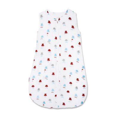 Bebe au Lait® Size 6-12M Bowler Muslin Full-Zip Wearable Blanket